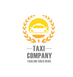Elegant and modern taxi logo vector