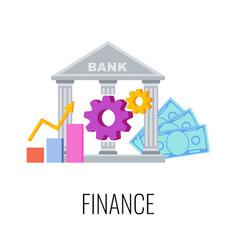 Finance infographics pictogram flat vector