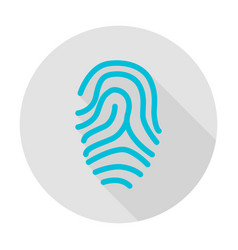 fingerprint circle icon vector image