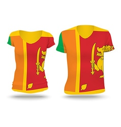 Flag shirt design of Sri Lanka vector image