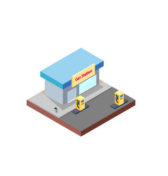 gas station building in isometric projection vector image
