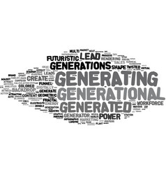 generating word cloud concept vector image