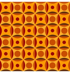 Geometrical pattern in orange colors vector