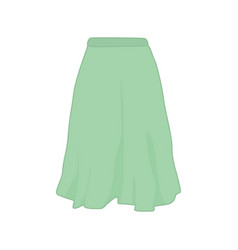 green pasterl color skirt fashion style item vector image