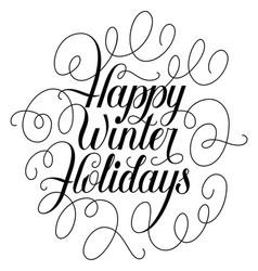 happy winter holidays vector image