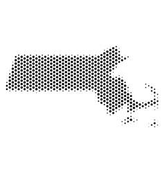 Hex tile massachusetts state map vector