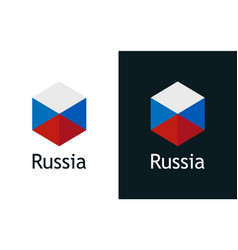 icon russian flag on black and white vector image