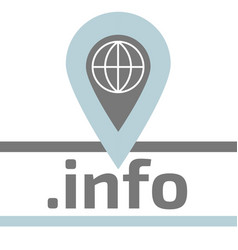Information service domain zone flat logo vector