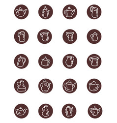 Interesting teapots on a white background vector