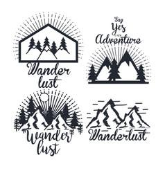 journey label set travel explore adventure symbol vector image