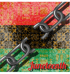 Juneteenth freedom day african-american vector