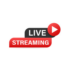 live streaming logo news and tv or online vector image