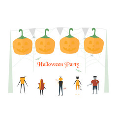 minimal scary scene for halloween day 31 october vector image