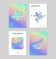 Modern abstract poster cover design template vector
