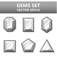 Modern set of colorful gems for website or mobile vector