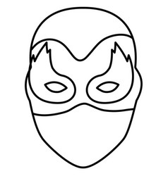 Monochrome silhouette of festive mask with eyes in vector