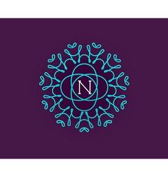Monogram Design Template with Letter in Premium vector