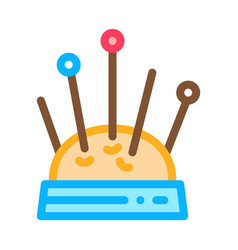 needle pillow icon outline vector image