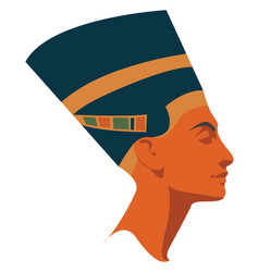 Nefertiti on white background vector
