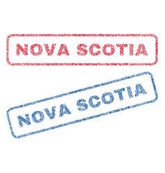Nova scotia textile stamps vector