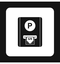 Parking fees icon simple style vector