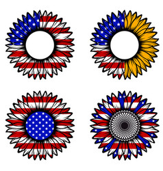 patriotic sunflower flag vector image