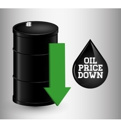 Petroleum and oil prices business vector image