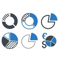 Pie Chart Flat Icons vector