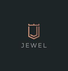 premium monogram letter j initials logotype vector image