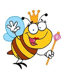 Queen bee cartoon vector