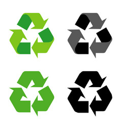 recycle sign icon symbol isolated vector image