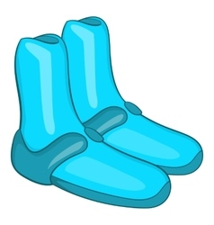 Reef shoes for surfboard icon cartoon style vector