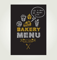Restaurant menu Bakery and cafe Template design vector image