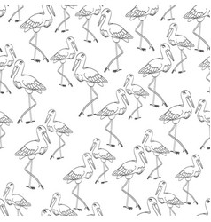 seamless background with storks vector image