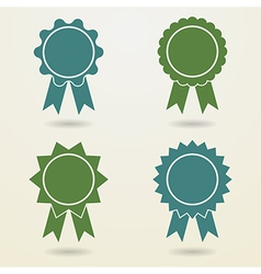 Set of empty badges with ribbons Set of empty vector