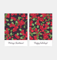 set of greeting card or postcard templates vector image