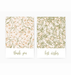 set postcard or greeting card templates vector image
