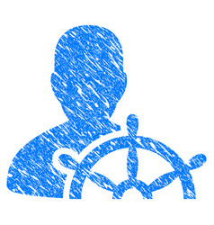 Ship captain grunge icon vector
