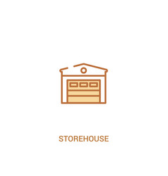 Storehouse concept 2 colored icon simple line vector