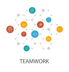 Teamwork presentation template cover layout and vector