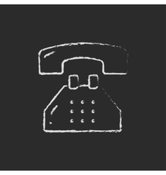 Telephone drawn in chalk vector