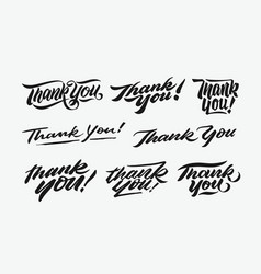 Thank you hand written lettering bundle 1 vector