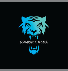 Tiger head exclusive brand company template logo vector