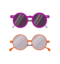 trendy circle sun glasses vector image