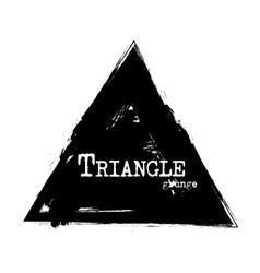 triangle shape grunge style vector image