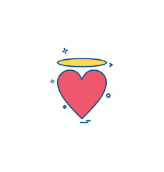 valentines heart angle icon design vector image