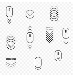 web page scroll down symbols vector image