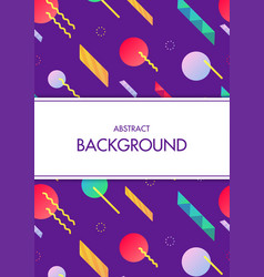 White frame with colorful geometric background vector