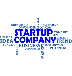 word cloud - startup company vector image