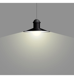 Ancient black lamp hanging Big and empty space vector image